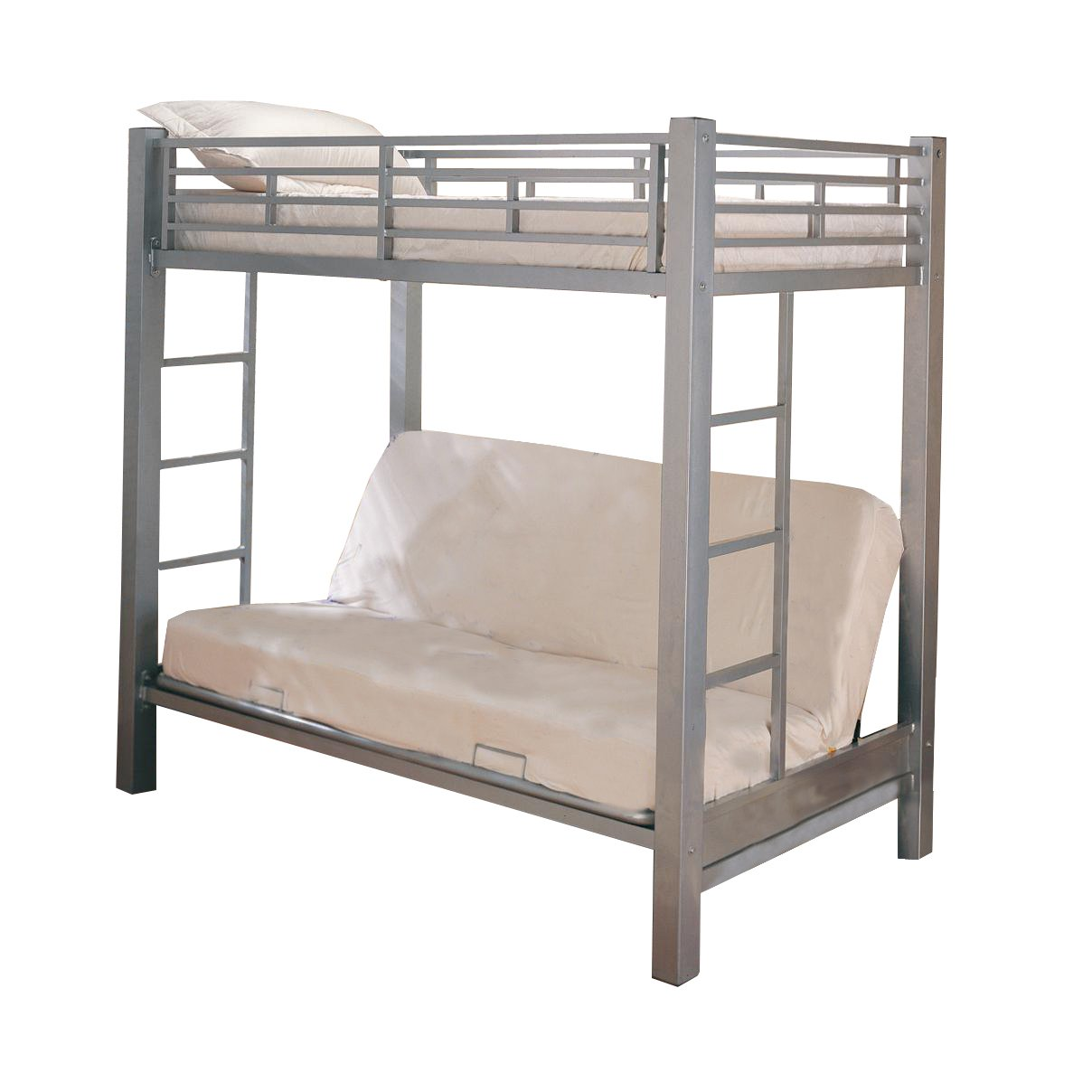 Amazon.com: Home Source Industries 13017 Bunk Bed with Convertible Sofa to  Full Sized Bed, Silver: Kitchen & Dining - Amazon.com: Home Source Industries 13017 Bunk Bed With Convertible