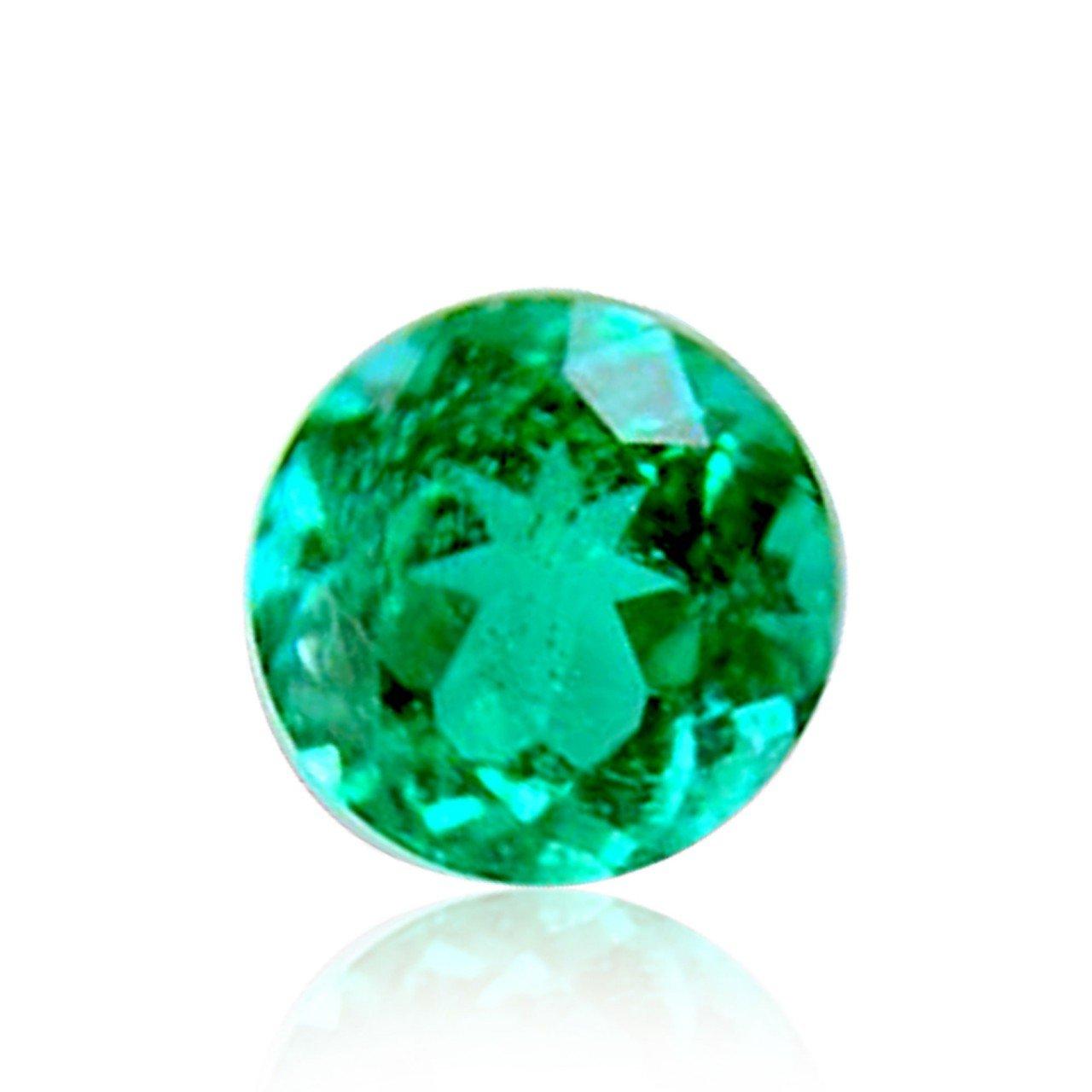 0.17 Carat Vivid Green Emerald Loose Gemstone Round Cut