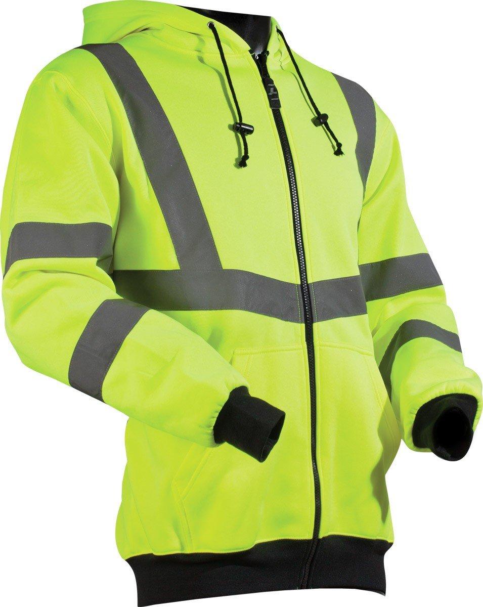 LIFT Safety Viz-Pro Hoodie AVH-14HVM Hi-Viz, Medium