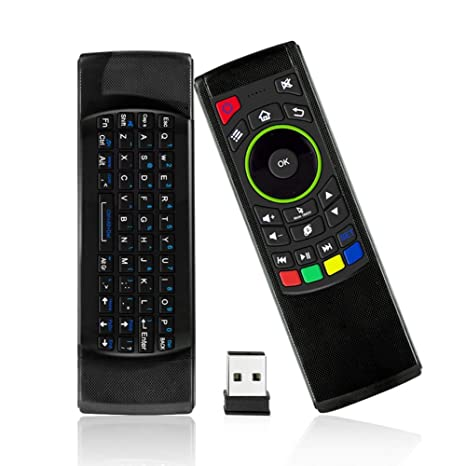 Sala-Deco - 2.4G Wireless 360 Degrees Fly Air Mouse 69 Keyboard IR Learning Remote control Keypad teclado for TV Box PC Motion Sensing Game - - Amazon.com