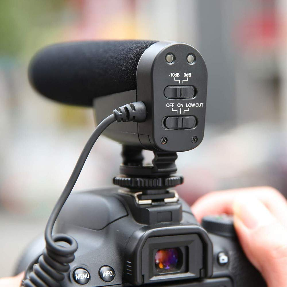 PIXEL Video Microphone Emiral Camera microphone Shotgun Interview Microphone for Canon Nikon Cameras DV Camcorder 3.5mm Interface