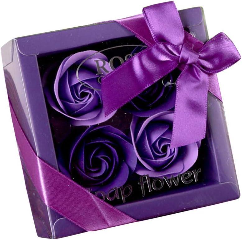 Ours D/écoration de Mariage Cadeau Saint Valentin F/ête des M/ères Rose B1 YBWZH Rose Fleur de Savon avec Bo/îte /à Cadeau Coeur Fleur Parfum/ée 6 Rose de Savon