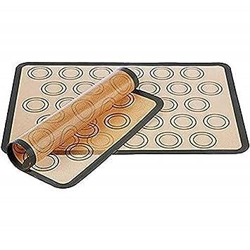 Amazon.com: Juego de 2 alfombrillas de silicona para horno ...