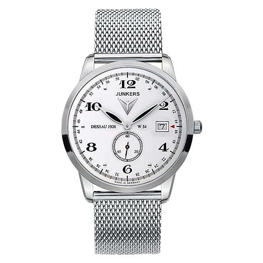 Junkers Reloj de Pulsera analógico Cuarzo Acero Inoxidable 6334 M1: Amazon.es: Relojes