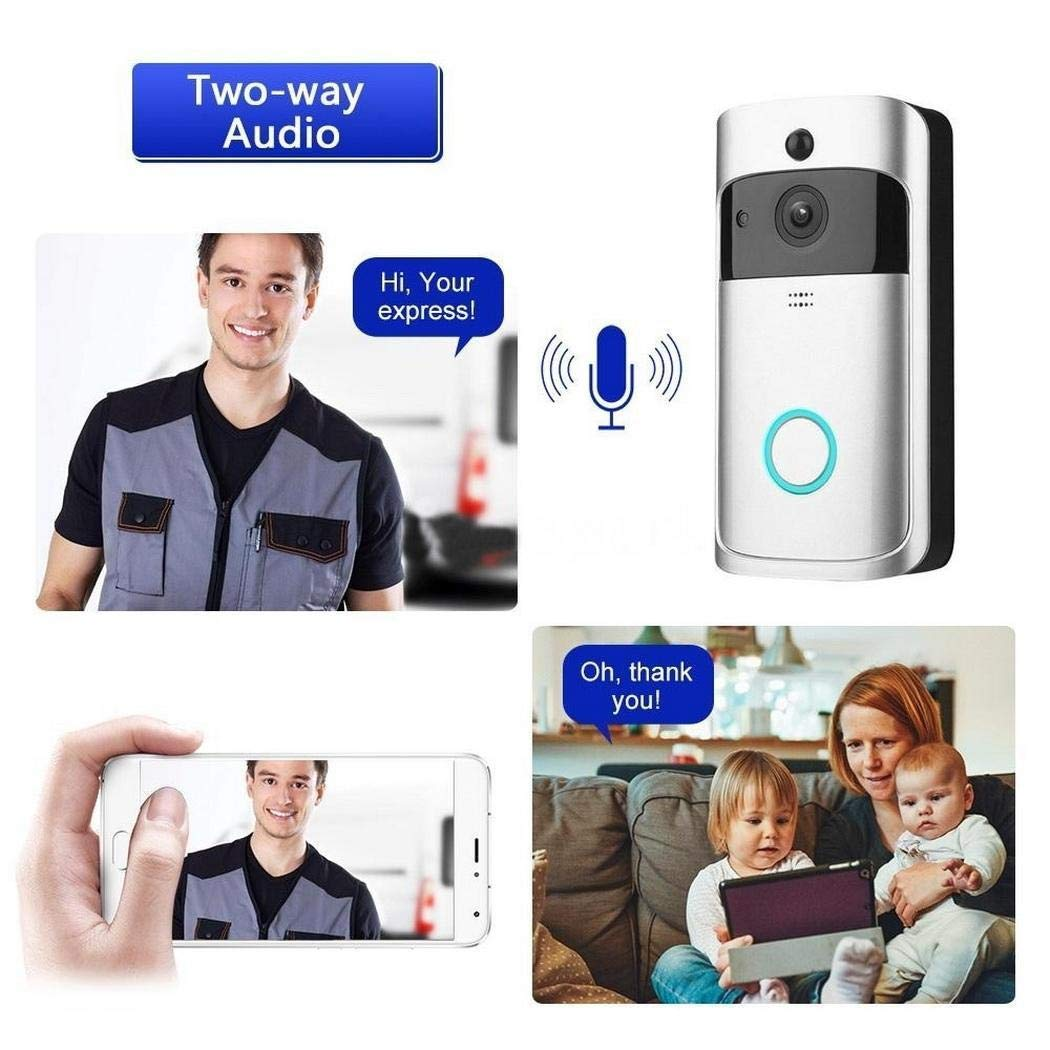 Bluefringe WiFi Smart Video Doorbell Camera Wireless Door Bell 720P HD Wireless Home Security Doorbell Camera with 32GB Storage Card(Not Included) by Bluefringe (Image #8)
