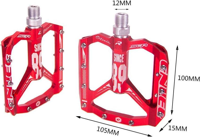 de Carreras 1 par rodamientos de Bolas industriales Agarre Superior MTB Dough.Q Pedales de Bicicleta de monta/ña de Ciudad para Bicicletas de monta/ña DH Bicicletas de Trekking etc.