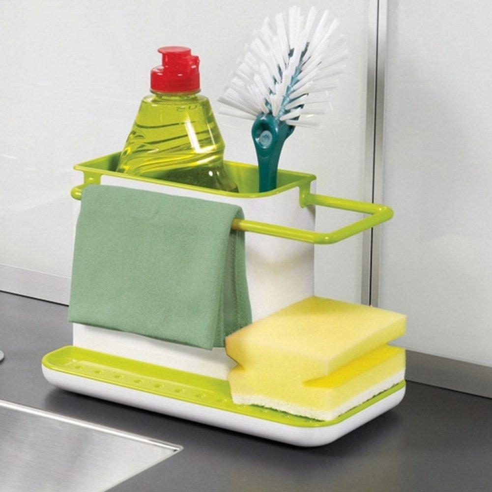 GreenSun(TM) 2016 New 3 IN 1 Glove Plastic Racks Organizer Caddy Storage kitchen organizer Sink Utensils Holders Drainer tableware Towel Rack by