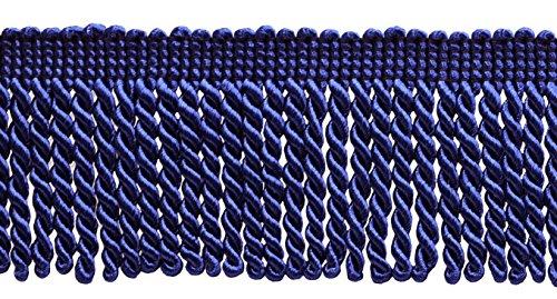 Bullion Fringe (10 Yard Value Pack of Ultramarine Blue 2.5 Inch Bullion Fringe Trim, Style# EF25 Color: Royal Blue - J3 (30 Ft / 9.5 Meters))