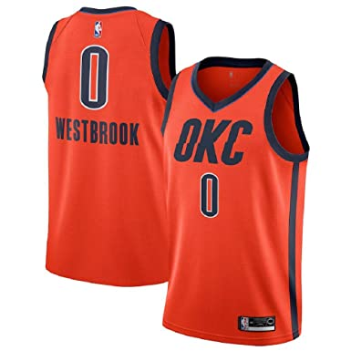 7a4fabf3e Majestic Athletic Russell Westbrook  0 Oklahoma City Thunder 2018-19  Swingman Men s Jersey Orange