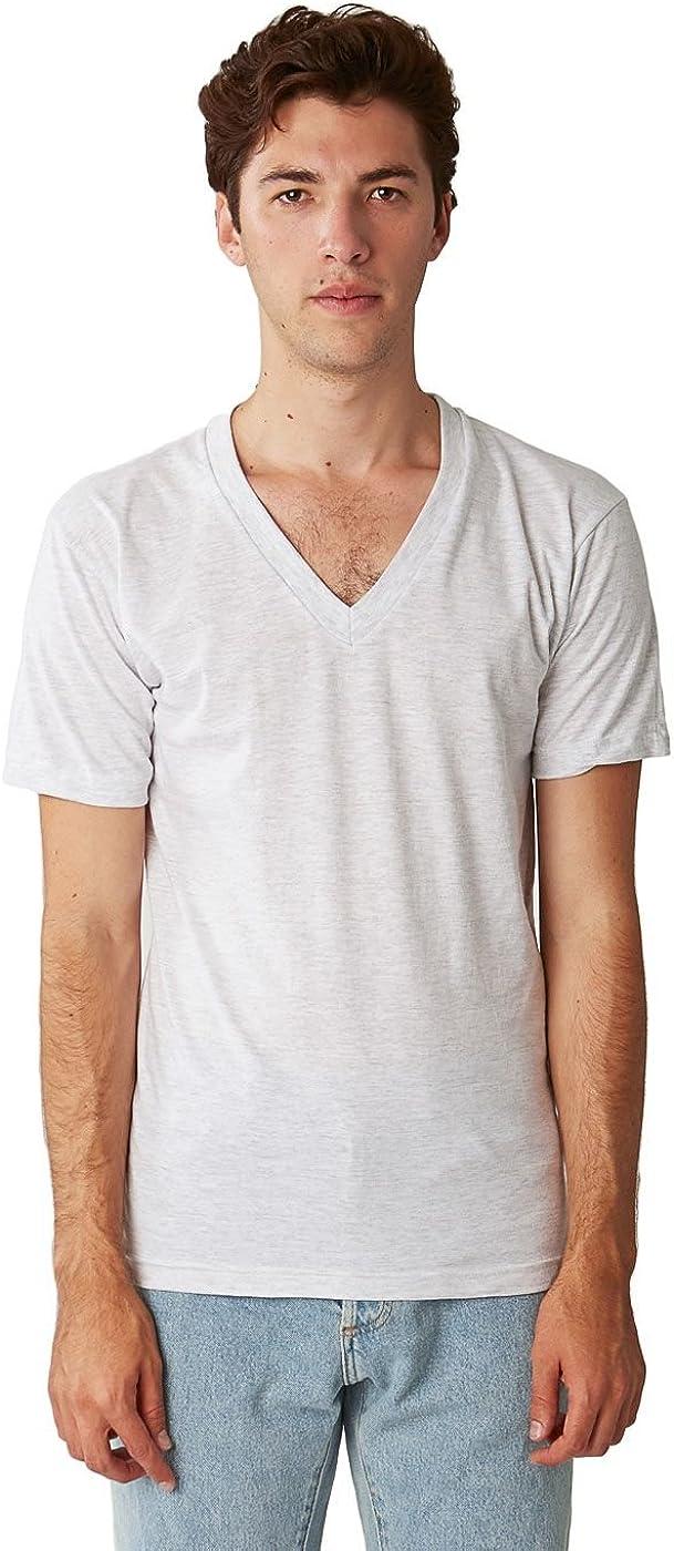 American Apparel Womens Unisex Tri-Blend Short Sleeve V-Neck