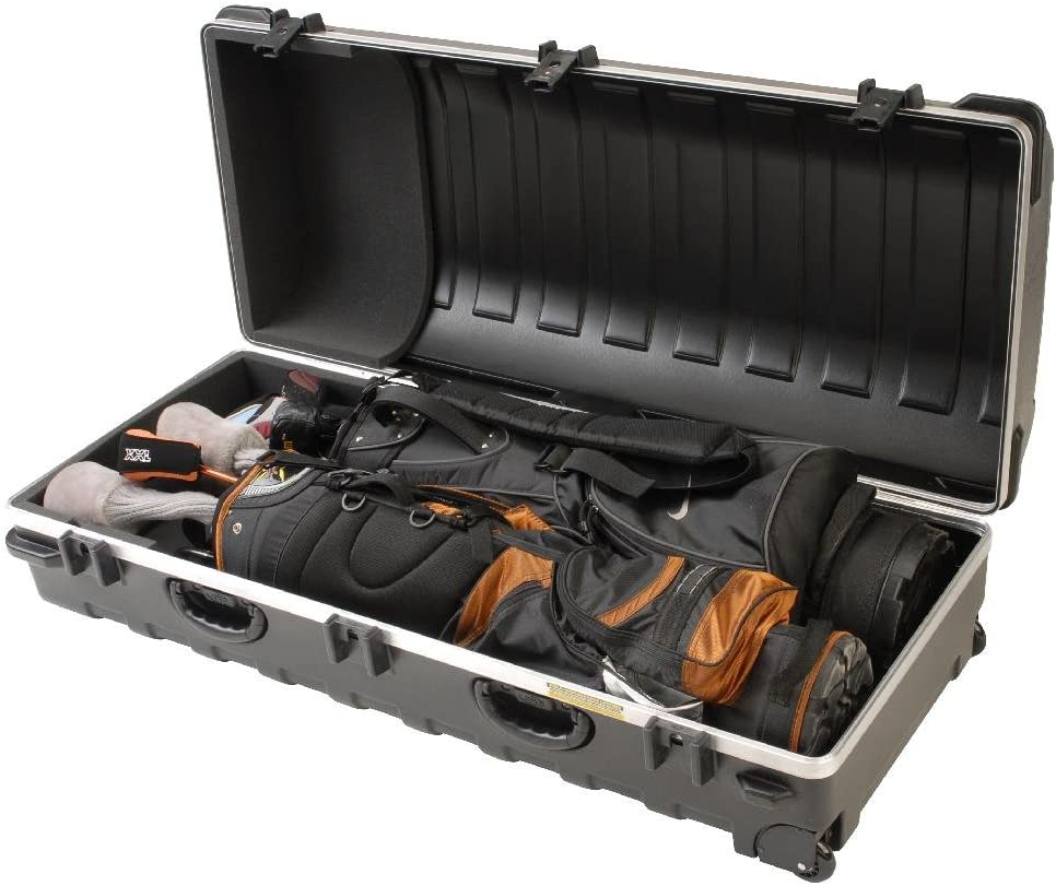 SKB Deluxe Double ATA - Maleta de Viaje para Equipamiento de Golf, Color Negro