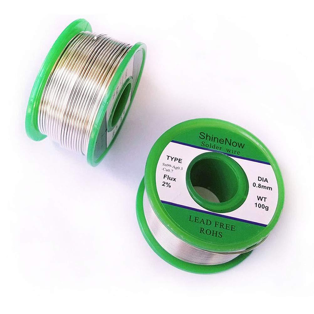 Shinenow plomb Colophane Core Bobine de fil /à souder 100/g Sn99/Ag0.3/CU 0,7/Flux 2/%