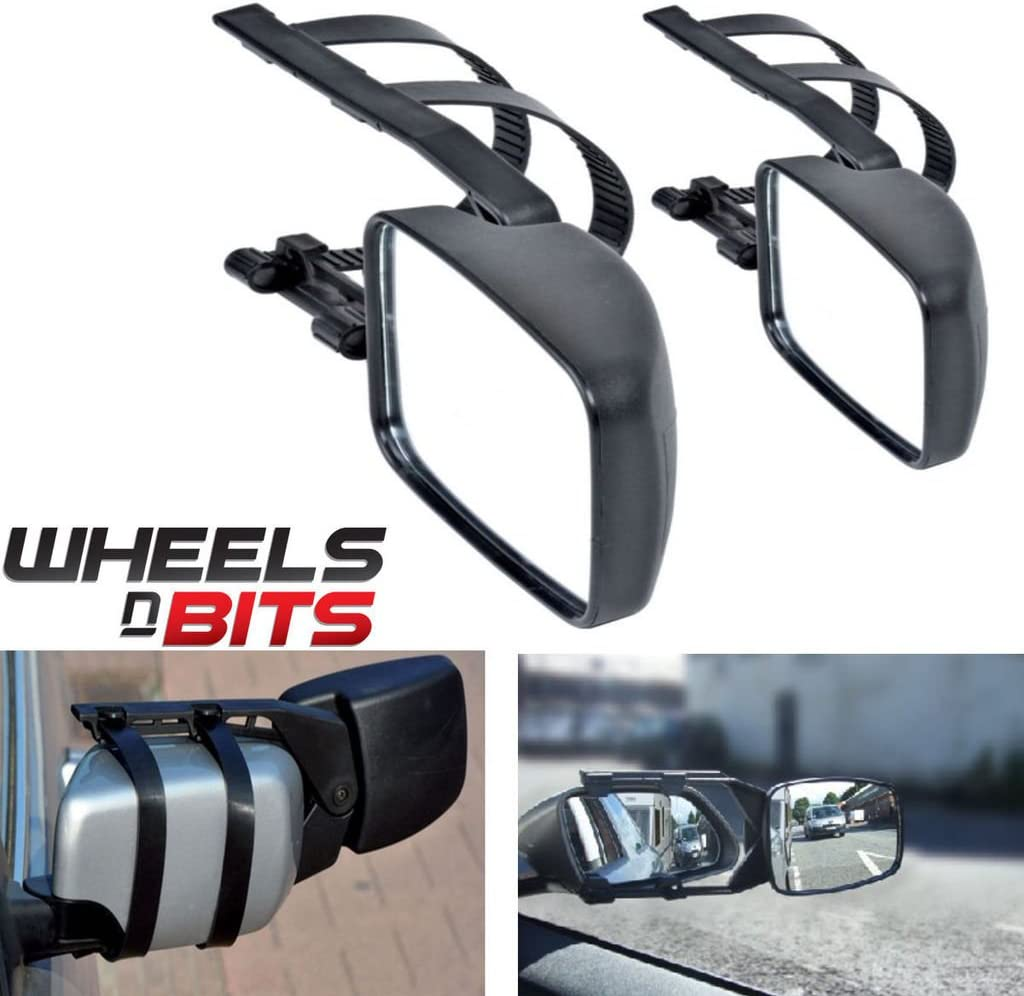 Wheels N Bits 2 x Caravan Towing Mirror Extension Car Wing Mirrors for Lexus Is250 IS270
