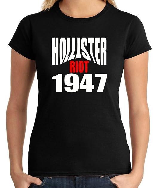 Cotton Island - T-shirt para las mujeres OLDENG00523 hollister riot 1947, Talla S