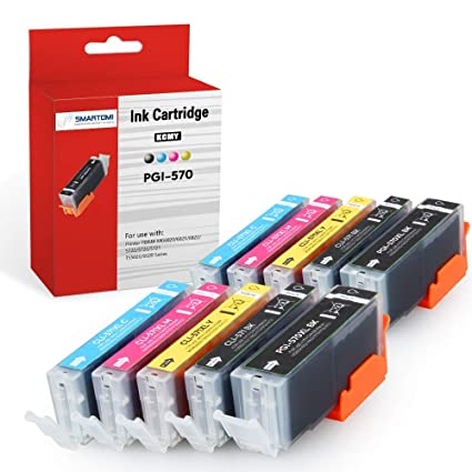 SMARTOMI - 10 cartuchos de tinta PGI-570 XL negro y CLI-571 XL ...