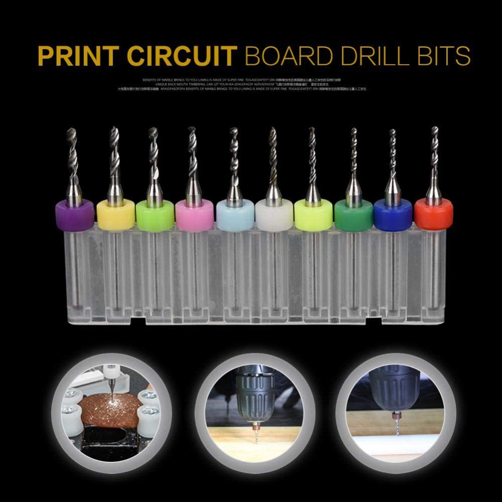 for Plastic Wood Alloy PCB Drill Bits Sorand Tungsten Carbide 10Pcs Micro Drill Bits