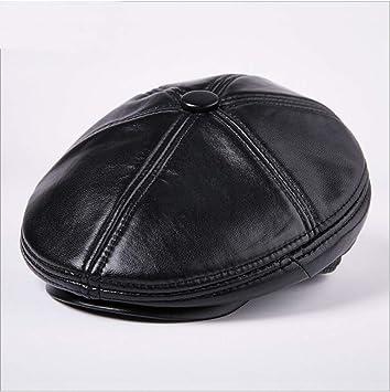 ZLJKK Gorras De Cuero Moda Boinas Calientes Sombreros Viseras ...
