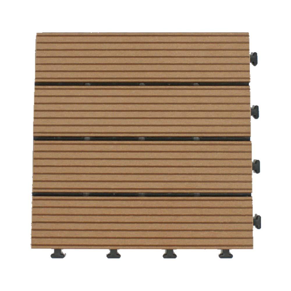 DAIM人工木デッキパネル ブラウン 54枚入(4.86平米 3畳) ジョイント式で設置がかんたん!敷くだけでウッドテラスが出来ます。【送料無料】 全3色 (ブラウン) B072V7R11X ブラウン