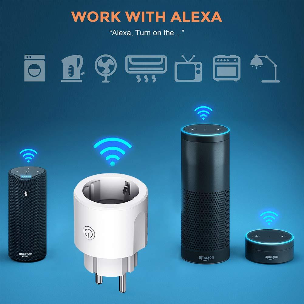 compatible avec Alexa Google Home et IFTTT aucun concentrateur requis Prise intelligente prise YAGALA Mini WiFi Prise intelligente avec t/él/écommande et fonction de minuterie 4 Pack