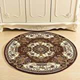 European-Style Round mat, Computer Chair Bedroom Bedside Blanket, Coffee Table Living Room Basket Swivel Chair Cushion, Round mat