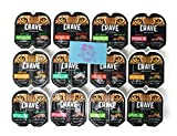 Crave Grain Free High Protein Perfect Portions Wet Cat Food Huge Variety Pack, 6 Different Flavors (24 Single Servings)