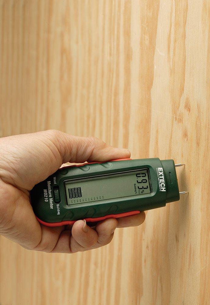 MO210 Extech Feuchtigkeitsmessger/ät im Taschenformat mit 2-in-1 Digitalanzeige und Analogem Balkendiagramm 1 St/ück
