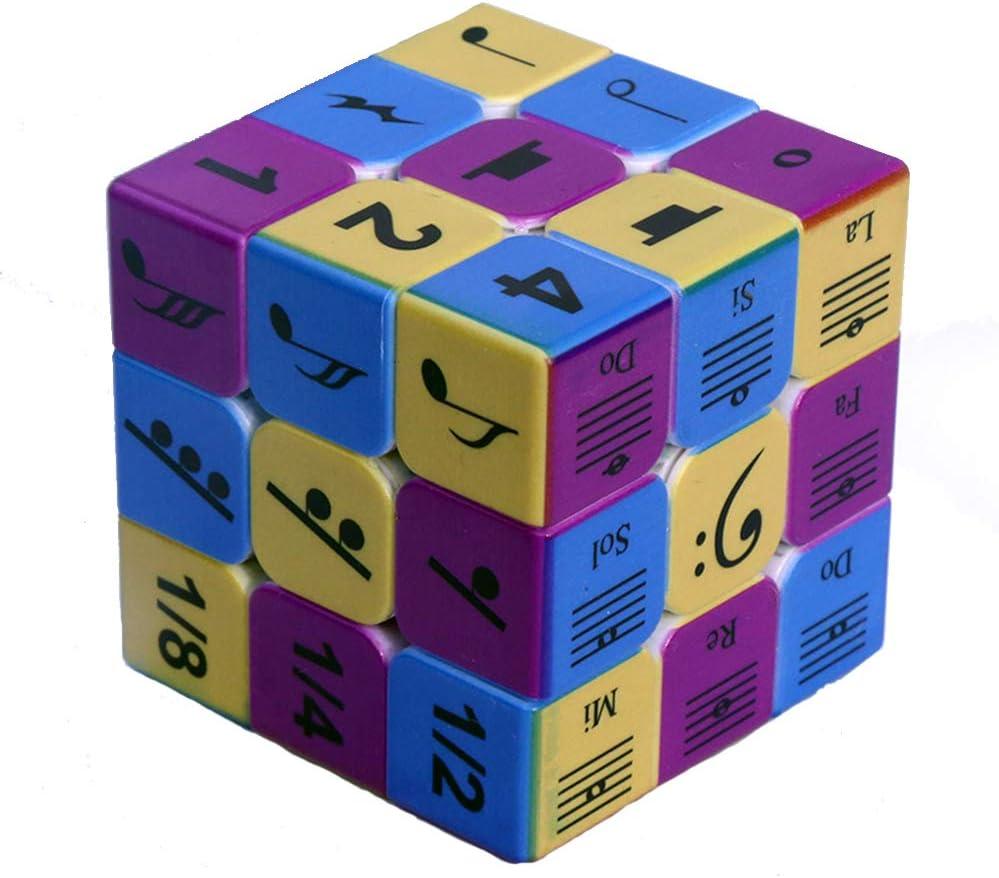 MOye Notas Musicales Cubo 3x3x3 Velocidad Rompecabezas Suave Herramientas de Aprendizaje Inteligencia de Desarrollo Juguetes para ni/ños