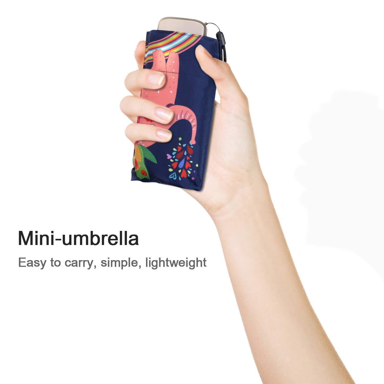 DORRISO Mignonne Enfants Animal Pliant Parapluie /étudiant Voyage Loisir Filles Gar/çons Les Enfants Mini Parapluie Ours Blanc