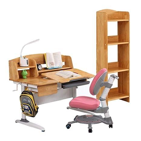 Amazon.com: PNYGJCRTXXZY Wooden Kids Desk Bookshelf Table ...