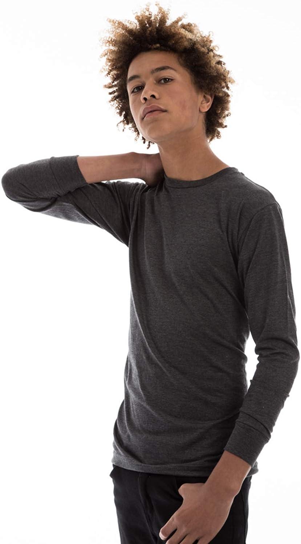 Unisex Long Sleeve Cotton Basic T-Shirt Top for Men and Women
