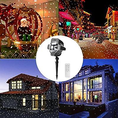 niceeshop (TM) foco proyector, proyector exterior Navidad LED ...