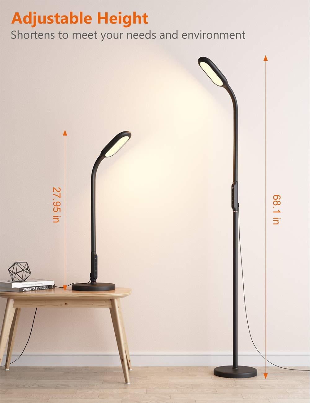 TaoTronics Lámpara de pie, 12 W, Negro: Amazon.es: Iluminación