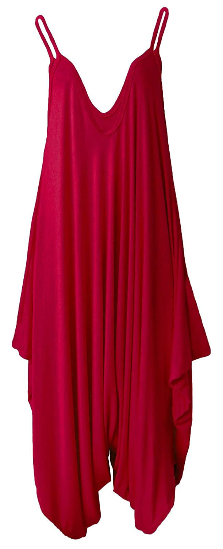 WOMEN LADIES CAMI LEGENLOOK ROMPER BAGGY HAREM JUMPSUIT PALYSUIT MATERNITY DRESS