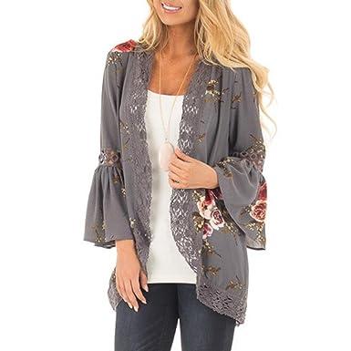 03544c5fe Homebaby❤ Women Bohemian Beach Kimono Cardigan Ladies Lace Floral Open Cape  Vintage Coat Jacket Loose Shawl Boho Top Blouse Beachwear Summer Holiday ...