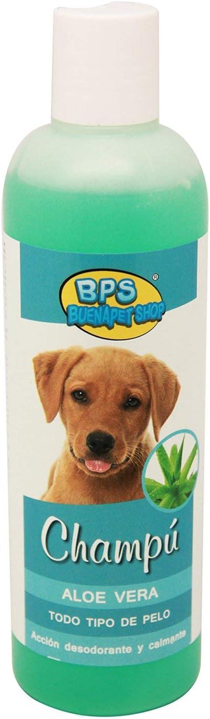 BPS Shampoo para Perro Champ/ú de Aloe Vera para Todo Tipo de Pelo R Animales Dom/ésticos. Cachorro