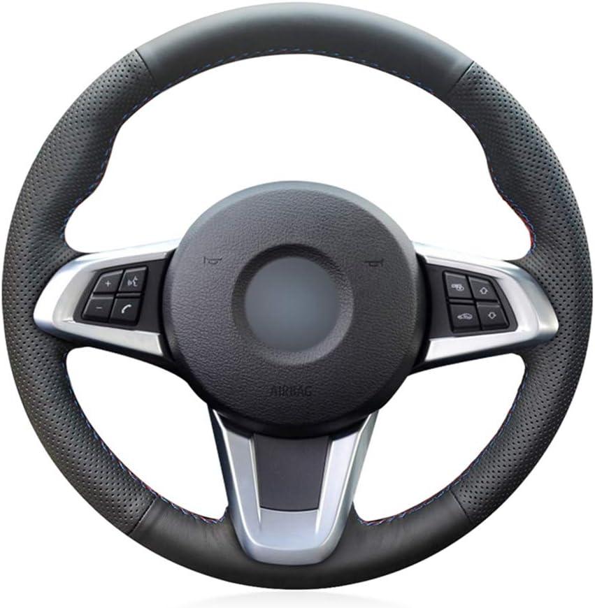YJLC Enveloppe de recouvrement de Volant de Voiture Cousue /à la Main pour BMW Z4 2009 2010 2011 2011 2012 2013 2014
