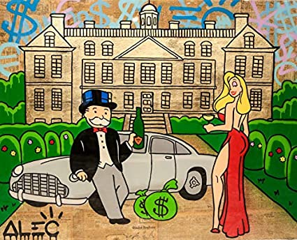 1a3acc23dba Image Unavailable. Image not available for. Color  xiaopingzi ALEC Monopoly  Graffiti Art ...