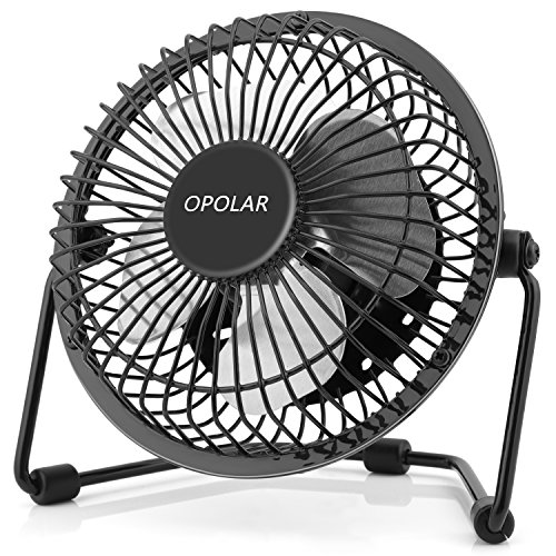 Fan Stand Cooler Dock (OPOLAR F401 Mini USB Table Desk Personal Fan (Metal Design, Quiet Operation 3.9' USB Cable, High Compatibility), Black)