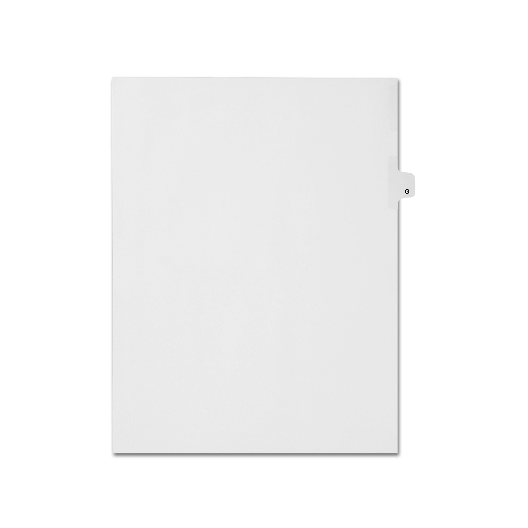 AMZfiling Individual Legal Index Tab Dividers, Compatible with Avery- Printed G, Letter Size, White, Side Tabs, Position 7 (25 Sheets/pkg)