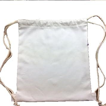 Uniqstore 1PCS DIY Bolso con cordón Bolso de la Pintura de la Mano del morral Mochila de la Lona de Cierre de Cordel: Amazon.es: Equipaje