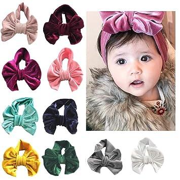 10Pcs Nylon Soft Elastic Stretch Baby Kid Girl Headband Hair Band Wrap Hairbands