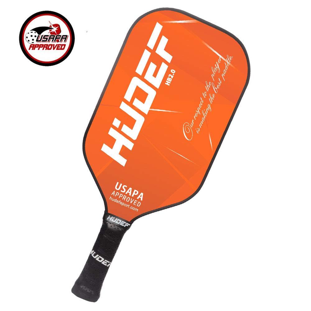 HUDEF Pickleball Paddle-Composite Fiber Face Polypropylene Honeycomb Core Pickleball Racquet,Lightweight Premium Grip Standard and Elongated Balanced Pickleball Rackets,USAPA Approved