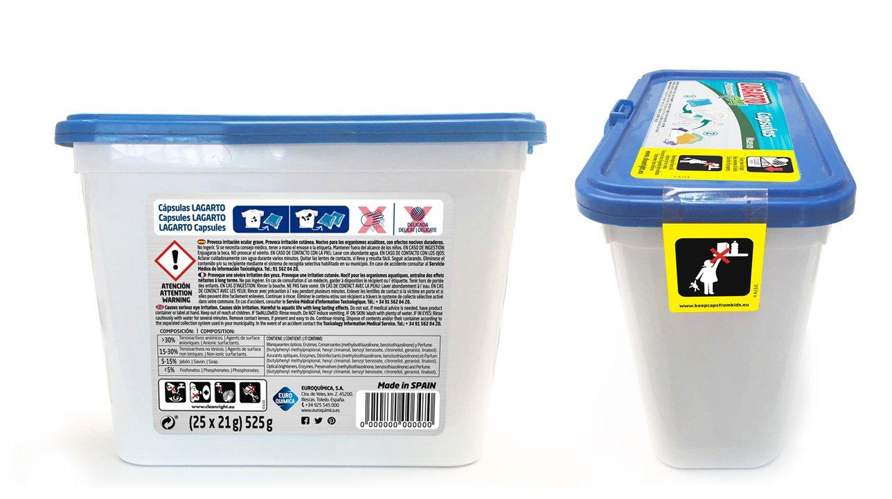 Lagarto Platinum Detergente para Lavadora en Capsulas, Compuesto,, 15x12x19 cm: Amazon.es: Salud y cuidado personal
