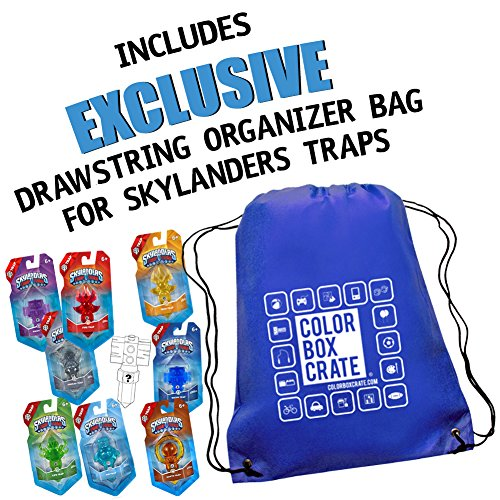Skylanders Trap Team Element Value Trap Pack 9 Traps by ColorBoxCrate - Includes Fire Trap, Tech Trap, Undead Trap, Magic Trap, Life Trap, Earth Trap, Air Trap, Water Trap, and one random Mystery Trap by Skylanders Trap Team Traps (Image #3)
