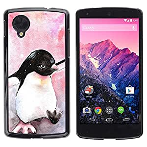 - Cute Penguin Watercolor Baby Pink - - Monedero pared Design Premium cuero del tir???¡¯???€????€???????????&AEl