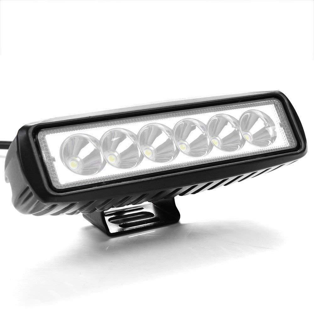 Lot de 4 projecteurs de travail LED 18 W 12 V 24 V et ATV r/éflecteur pour feux de travail de stationnement