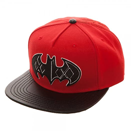 b6f86642cc2e9 Image Unavailable. Image not available for. Color  Bioworld Batman Harley  Quinn Carbon Fiber Snapback Baseball Hat ...