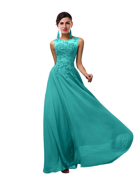 ThaliaDress Women Long Sheer Neck Evening Bridesmaid Dresses Prom Gowns T004LF