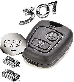 Automobile Locksmith - Kit para arreglar llave de mando a distancia de 2 botones para Peugeot