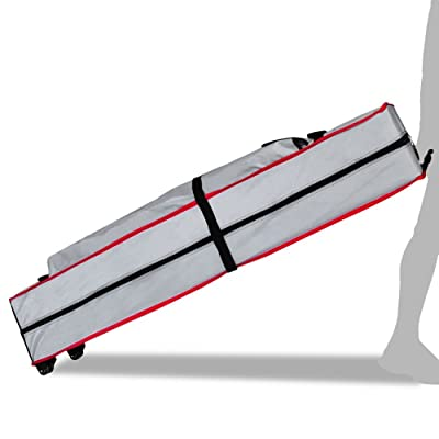 Eurmax Heavy Duty Wheeled Bag Pop up Canopy Tent Universal Rolling Storage Bag with Handles for 10x10 Canopy Instant Tent: Sports & Outdoors